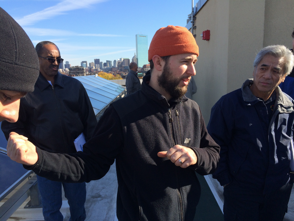 Bright's Sam Weisenberg teaches maintenance staff in the field