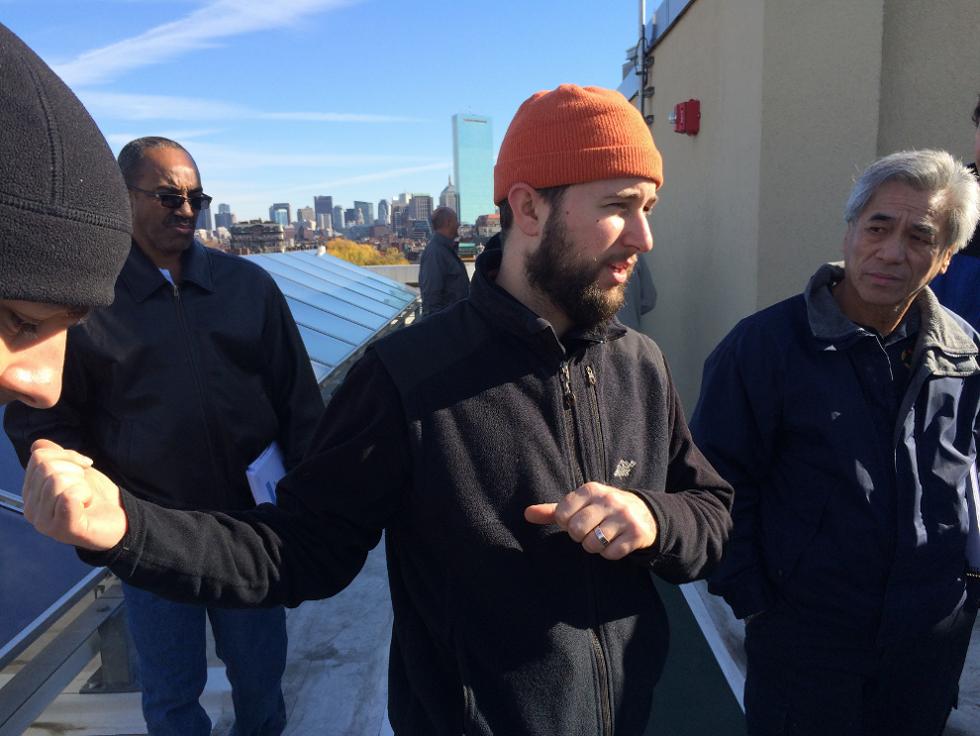 Bright's Sam Weisenberg teaches maintenance staff in the field