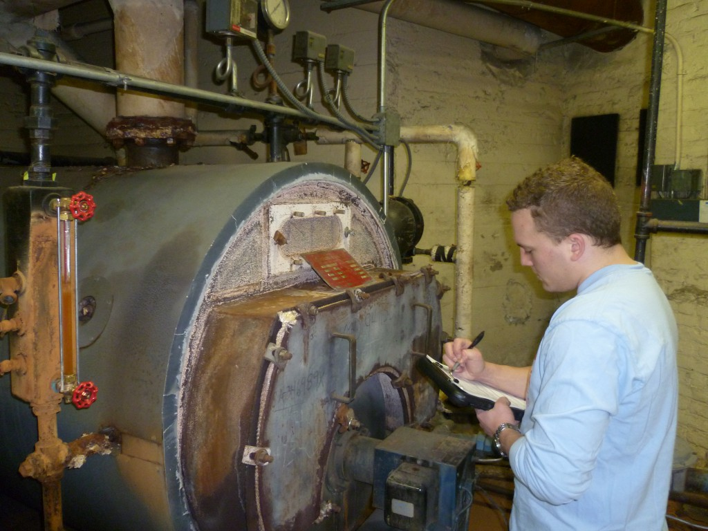Alex taking down boiler specs