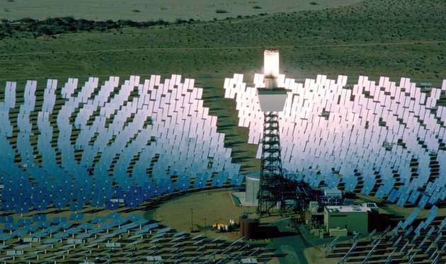 [UNVERIFIED CONTENT] An aerial photograph of the Solar One Energy Plant in the Mojave Desert Near Dagget California