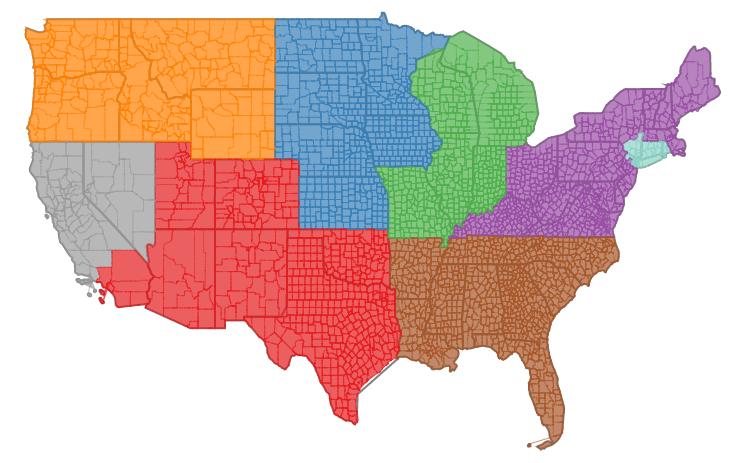 EnergyScoreCards grading regions