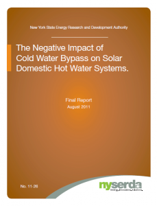 The Negative Impact of Cold Water Bypass on Solar Domestic Hot Water Systems