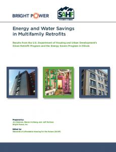 energy and water savings in multifamily retrofits