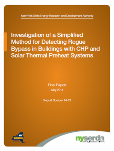 Investigation of a Simplified Method for Detecting Rogue Bypass in Buildings with CHP and Solar Thermal Preheat Systems