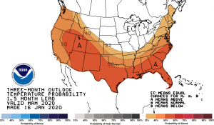 march april may temperature probability
