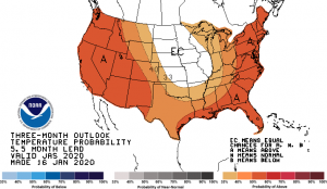 summer 2020 temperature probability