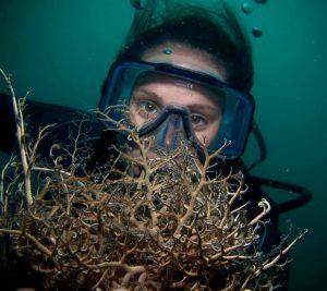 Zoe scuba diving